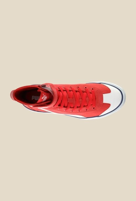 Puma 917 Mid DP High Risk Red & White Sneakers
