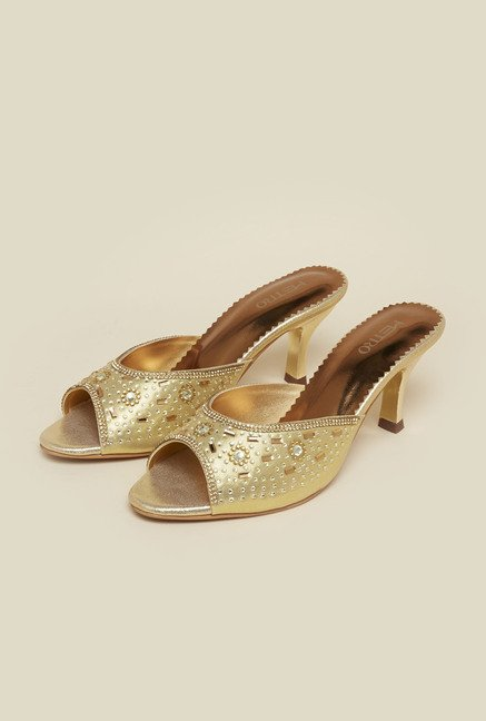 Metro Gold Floral Sandals
