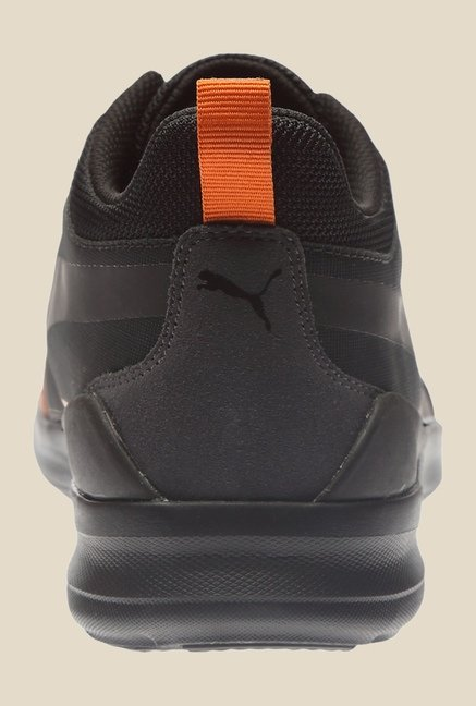 Puma Evo Rise Winter Tech Black & Burnt Orange Sneakers