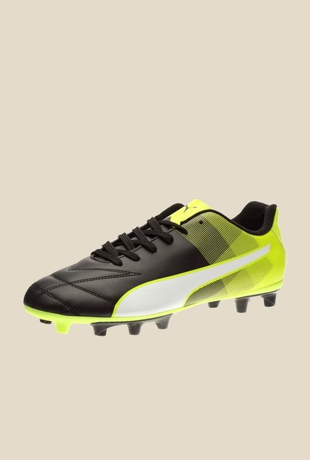 Puma Adreno II FG Black & Safety Yellow Football Shoes