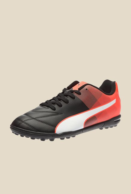 Puma Adreno II TT H2T Black & Red Blast Football Shoes