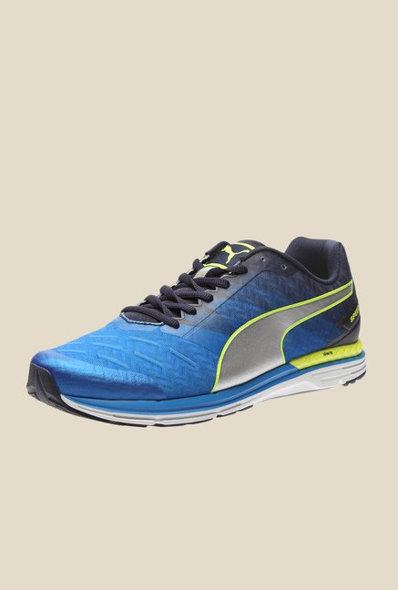 Puma Speed 300 Ignite Electric Blue & Silver Running Shoes