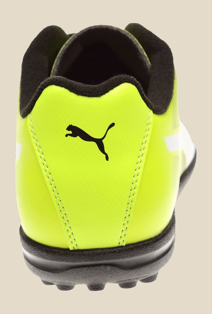 Puma Adreno II TT Black & Safety Yellow Football Shoes