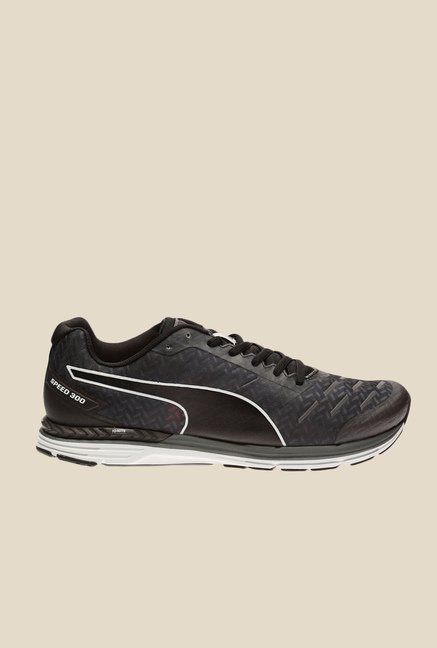 Puma Speed 300 Ignite Asphalt & Black Running Shoes