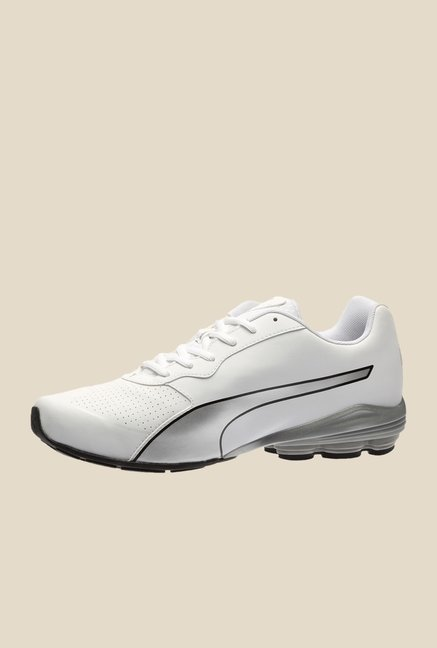 Puma Flume SL White & Silver Running Shoes