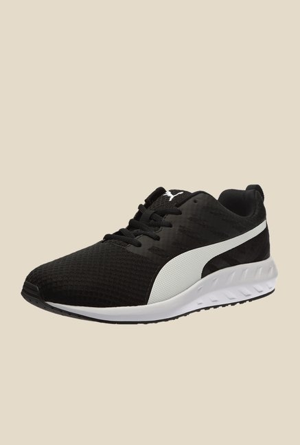 Puma Flare Black & White Running Shoes