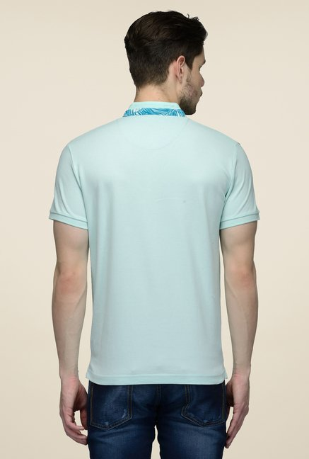 United Colors of Benetton Sky Blue Solid T-shirt