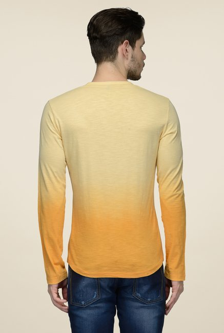 United Colors of Benetton Yellow Round Neck T-shirt