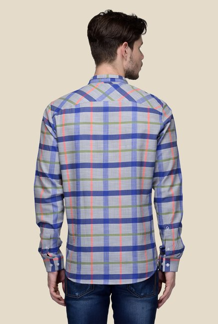 United Colors of Benetton Grey Checks Shirt