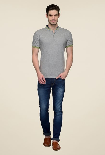 United Colors of Benetton Grey Solid T-shirt