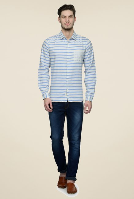 United Colors of Benetton Blue Striped Shirt