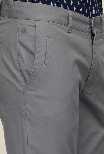 United Colors of Benetton Grey Solid Trouser