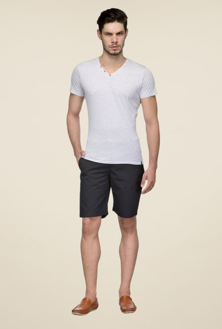 United Colors of Benetton Black Cotton Shorts