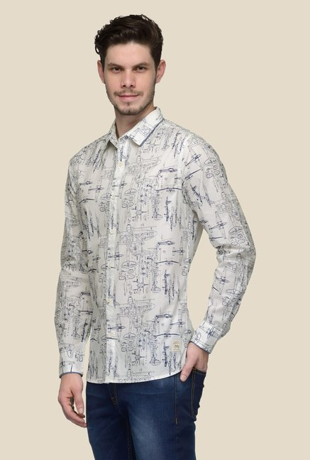 United Colors of Benetton Beige Printed Shirt