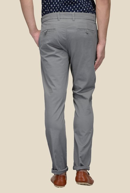 United Colors of Benetton Grey Mid Rise Solid Trouser
