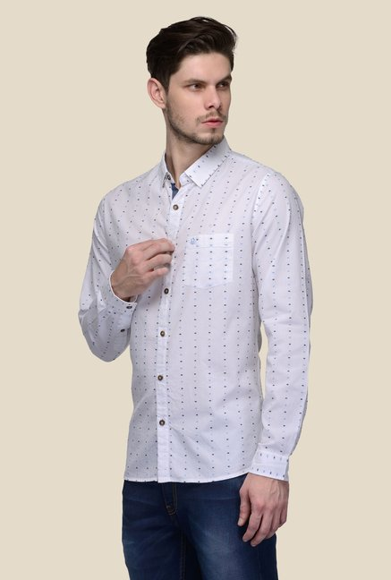 United Colors of Benetton White Printed Shirt