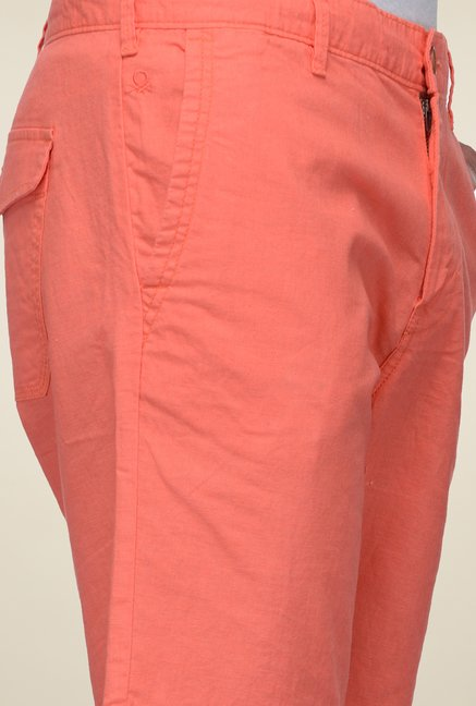 United Colors of Benetton Coral Linen Shorts