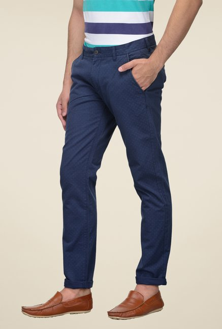 United Colors of Benetton Navy Printed Trouser