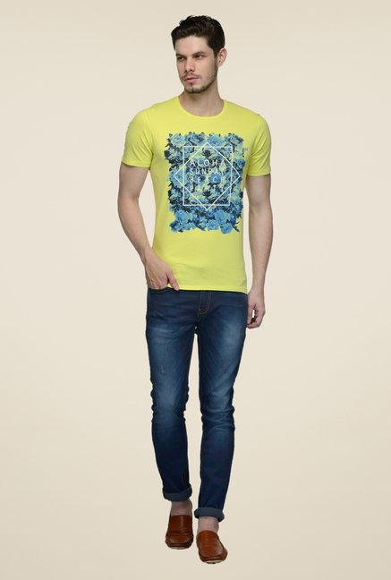 United Colors of Benetton Lime Crew Neck T-shirt