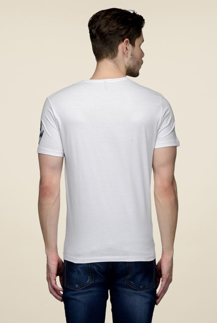 United Colors of Benetton White Crew Neck Cotton T-shirt