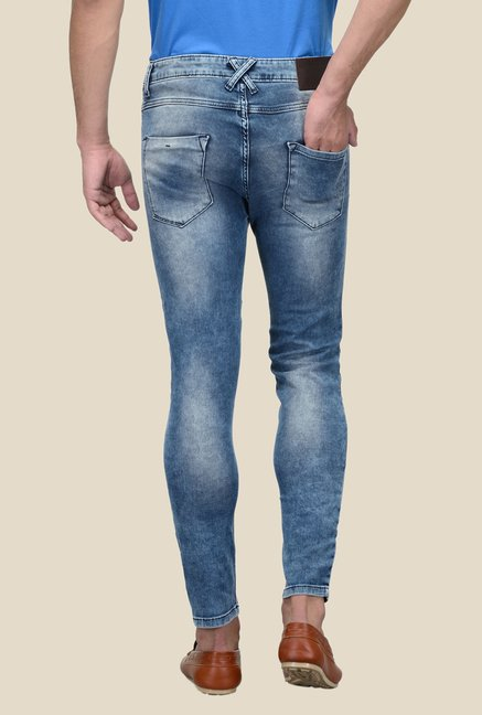 United Colors of Benetton Blue Lightly Washed Cotton Jeans