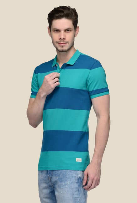 United Colors of Benetton Blue Polo T-shirt