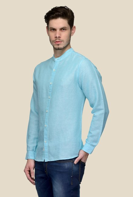 United Colors of Benetton Blue Linen Shirt