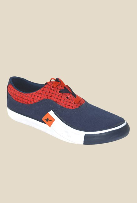 Sparx Navy & Red Sneakers
