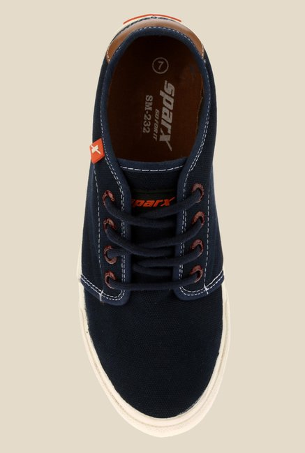 Sparx Navy & White Sneakers