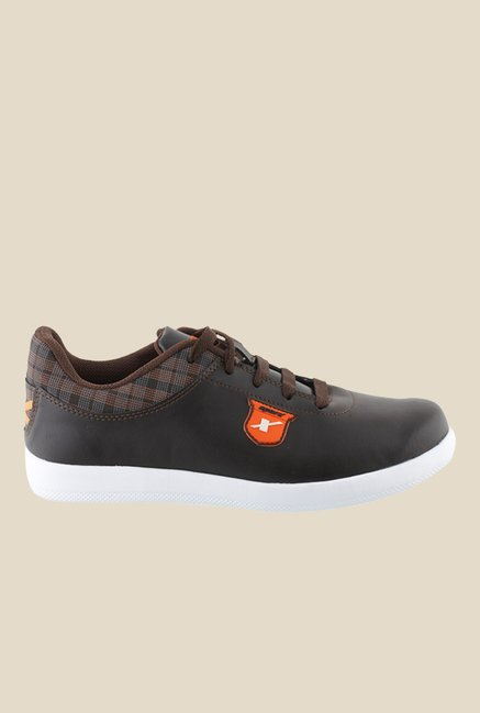 Sparx Brown & Orange Sneakers