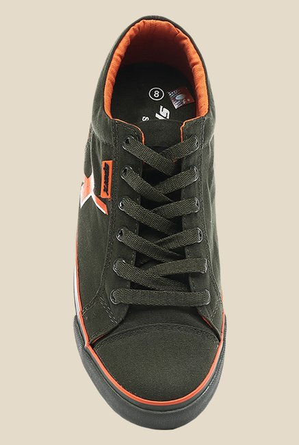 Sparx Olive & Orange Sneakers