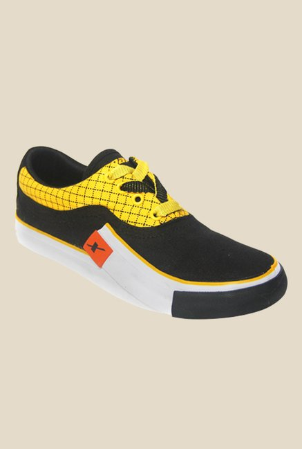 Sparx Black & Yellow Sneakers