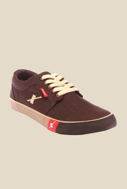 Sparx Brown & Beige Sneakers
