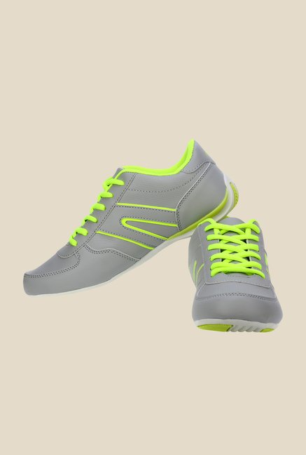 Sparx Grey & Green Running Shoes