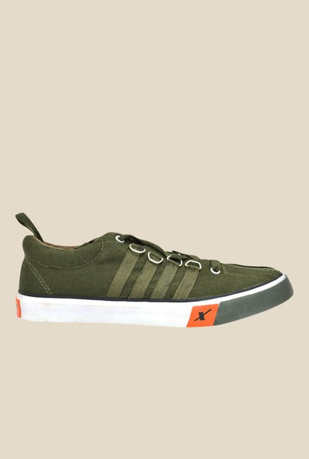 Sparx Olive & White Sneakers