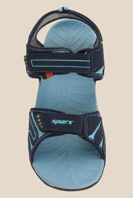 Sparx Navy & Sky Blue Floater Sandals