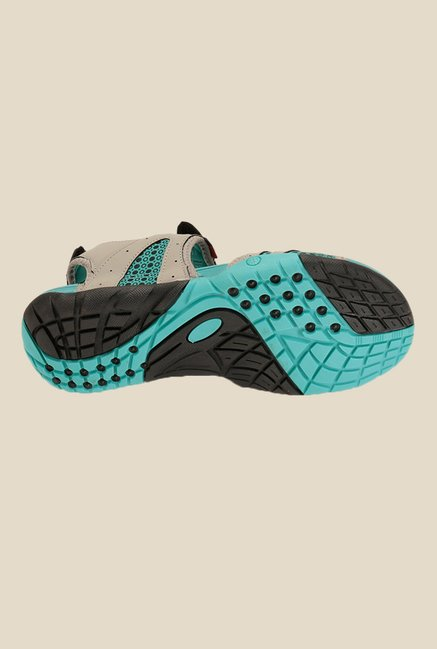 Sparx Grey & Sea Green Floater Sandals