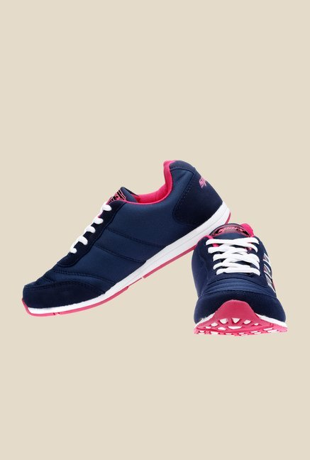 Sparx Navy & Pink Running Shoes