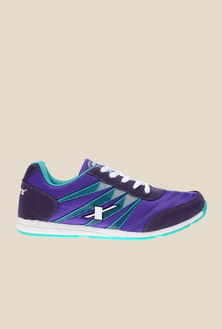 Sparx Purple & Green Running Shoes