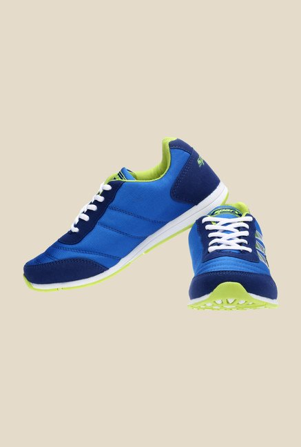 Sparx Royal Blue & Green Running Shoes