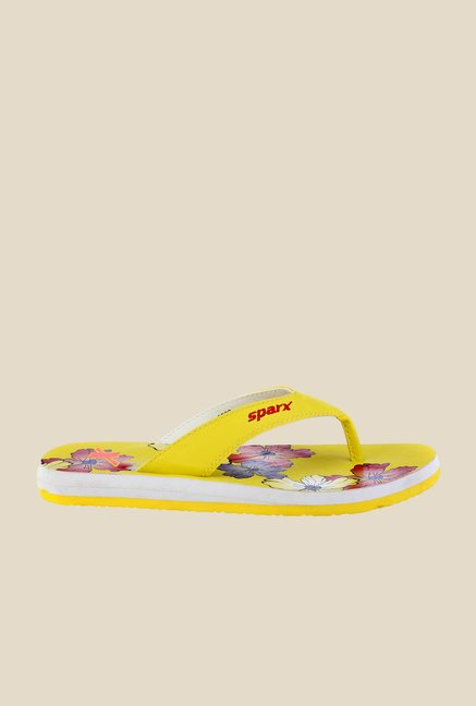 Sparx Yellow & Red Flip Flops