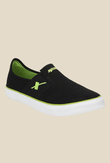 Sparx Black & Green Plimsolls
