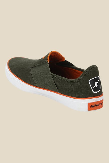 Sparx Olive & Orange Plimsolls