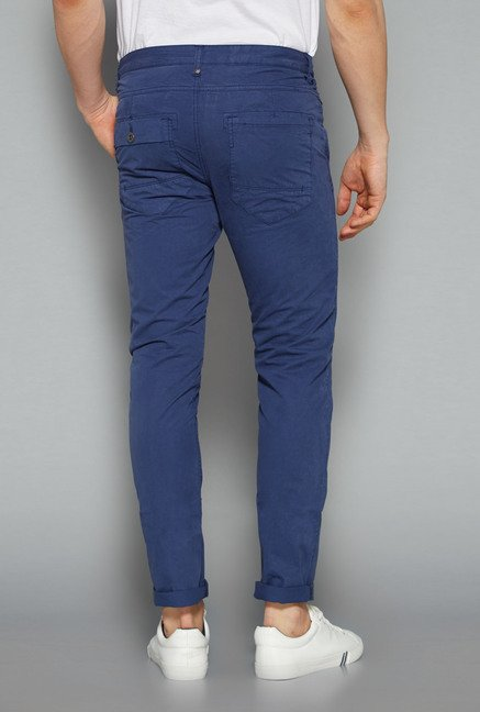 Nuon by Westside Blue Solid Chinos