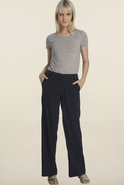 Vero Moda Navy Flared Pants