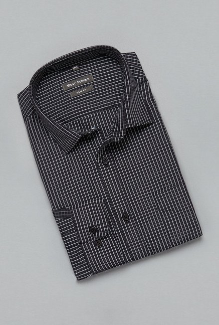 Weststreet by Westside Black Checks Shirt