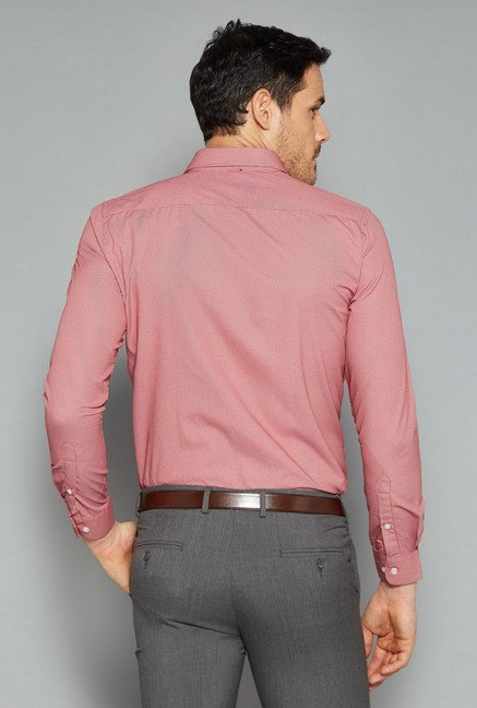 Weststreet by Westside Peach Checks Shirt