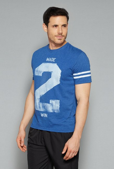 Westsport by Westside Blue Printed T Shirt