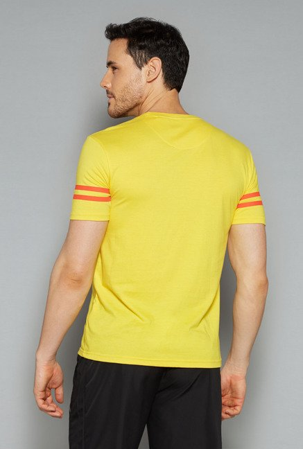 Westsport by Westside Yellow Printed T Shirt