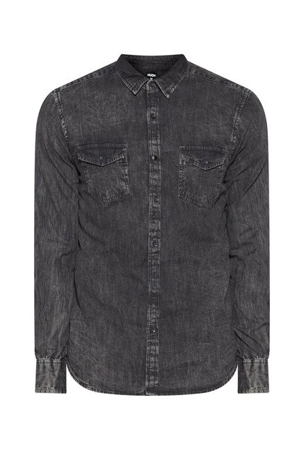 Nuon by Westside Grey Solid Shirt